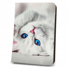 "Калъф за таблет MBX Fashion универсален 7-8"" инча, Многоцветен, Бяло котенце"