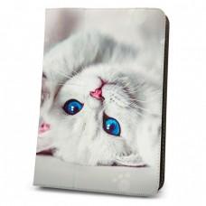 "Калъф за таблет MBX Fashion универсален 9-10"" инча, Многоцветен, Бяло котенце"