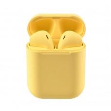 Слушалки Bluetooth безжични InPods 12 за iPhone, Жълти