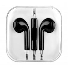 Слушалки HF за iPhone 3.5 mm в кутия, Черни