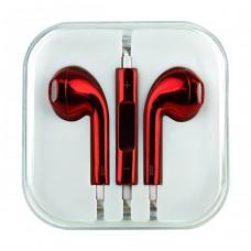 Слушалки HF за iPhone 3.5 mm в кутия, Червени