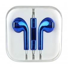 Слушалки HF за iPhone 3.5 mm в кутия, Сини