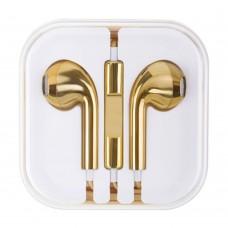 Слушалки HF за iPhone 3.5 mm в кутия, Златисти