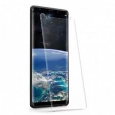 Стъклен протектор за дисплей MBX 5D UV Full Glue Edge с лампа за Samsung G955 Galaxy S8 Plus, Прозрачен