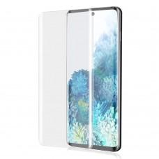 Стъклен протектор за дисплей MBX 5D UV Full Glue Edge с лампа за Samsung G998B Galaxy S21 Ultra, Прозрачен