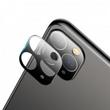 Стъклен протектор за задна камера 5D Full MBX за Apple iPhone 11 Pro, Pro Max, Черен