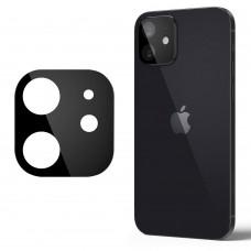Стъклен протектор за задна камера 5D Full MBX за Apple iPhone 12 (6.1), Черен
