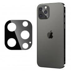 Стъклен протектор за задна камера 5D Full MBX за Apple iPhone 12 Pro Max (6.7), Черен