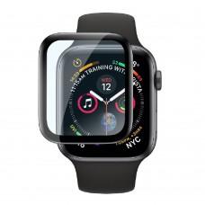 Удароустойчив протектор силиконов за часовник bSmart PET с черен кант за Apple iWatch 38mm, Прозрачен / Черен