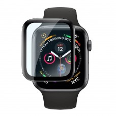 Удароустойчив протектор силиконов за часовник bSmart PET с черен кант за Apple iWatch 42mm, Прозрачен / Черен