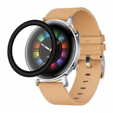 Удароустойчив протектор силиконов за часовник bSmart PET с черен кант за Huawei Watch GT 2 42mm, Прозрачен / Черен