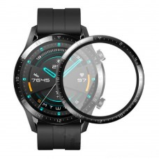 Удароустойчив протектор силиконов за часовник bSmart PET с черен кант за Huawei Watch GT 2 46mm, Прозрачен / Черен