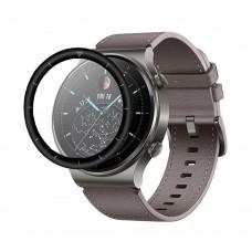 Удароустойчив протектор силиконов за часовник bSmart PET с черен кант за Huawei Watch GT 2 Pro, Прозрачен / Черен