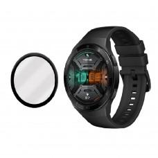 Удароустойчив протектор силиконов за часовник bSmart PET с черен кант за Huawei Watch GT 2e, Прозрачен / Черен