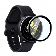 Удароустойчив протектор силиконов за часовник bSmart PET с черен кант за Samsung Galaxy Watch Active2 40mm, Прозрачен / Черен